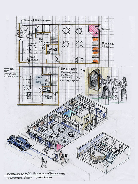 Restaurant layout design for Restaurant layout and design